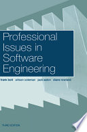 Professional Issues in Software Engineering Book