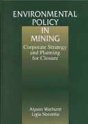 Environmental Policy in Mining