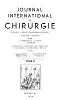 Journal international de chirurgie Book