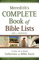 Pdf Meredith's Complete Book of Bible Lists Telecharger