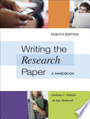 Writing the Research Paper  A Handbook