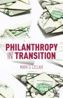 Philanthropy in Transition