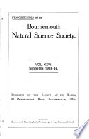 Proceedings of the Bournemouth Natural Science Society