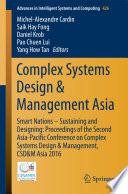 Complex Systems Design   Management Asia