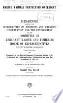 Marine Mammal Protection Oversight