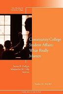 Community College Student Affairs