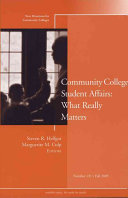 Community College Student Affairs  What Really Matters