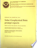 Solar geophysical Data