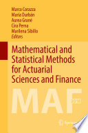 Mathematical and Statistical Methods for Actuarial Sciences and Finance Book