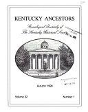 Kentucky Ancestors Book
