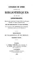 Catalogue de livres provenant des bibliothèques du feu roi Louis-Philippe