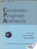 Computer Program Abstracts