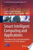 Smart Intelligent Computing And Applications Book PDF
