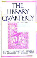 The Library Quarterly Book