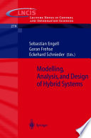 Modelling  Analysis and Design of Hybrid Systems Book