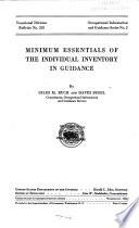 Minimum Essentials of the Individual Inventory in Guidance