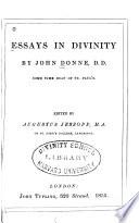 Essays in Divinity