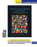 Problem Solving Approach to Mathematics for Elementary School Teachers, A, Books a la Carte Edition