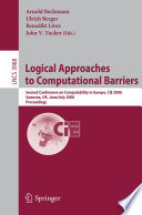 Logical Approaches to Computational Barriers