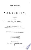 First principles of chemistry ...