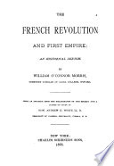 The French Revolution and First Empire
