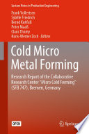Cold Micro Metal Forming