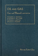 Cases and Materials on the Law of Oil and Gas