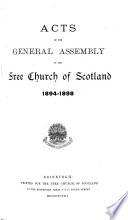 Acts of the General Assembly of the Free Church of Scotland