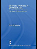 Business Practices In Southeast Asia Book PDF