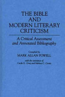 The Bible and Modern Literary Criticism