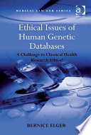 Ethical Issues of Human Genetic Databases Book