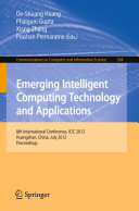 Emerging Intelligent Computing Technology and Applications