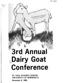 Dairy Goat Conference