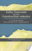 Sulfur Concrete for the Construction Industry Book