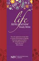 NIV Life Application Study Bible (Anglicised)