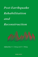 Post Earthquake Rehabilitation and Reconstruction