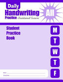 Daily Handwriting Practice Traditional Cursive Student Book Book