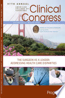 """Clinical Congress Program Book 2011"""