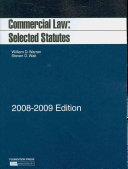 Commercial Law, Selected Statutes