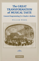The Great Transformation of Musical Taste Book PDF