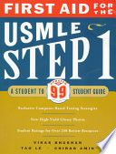 First Aid for the USMLE Step 1  : A Student to Student Guide
