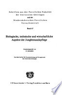 Schriften aus der Forstlichen Fakultät der Universität Göttingen und der Niedersächsischen Forstlichen Versuchsanstalt