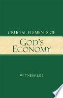 Crucial Elements Of God S Economy Book