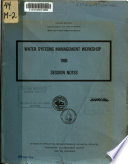 Water Systems Management Workshop 1980 Book