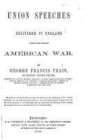 Pdf Union Speeches delivered in England during the present American War