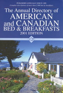 The Annual Directory of American and Canadian Bed   Breakfas