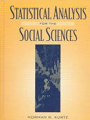 Statistical Analysis for the Social Sciences Book