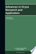 Advances in Oryza Research and Application  2013 Edition Book