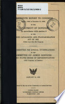 Thirteenth Report To Congress July 1 1958 To December 31 1958 Of The Department Of Defense