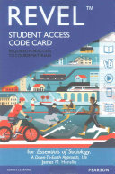 Revel for Essentials of Sociology -- Access Card